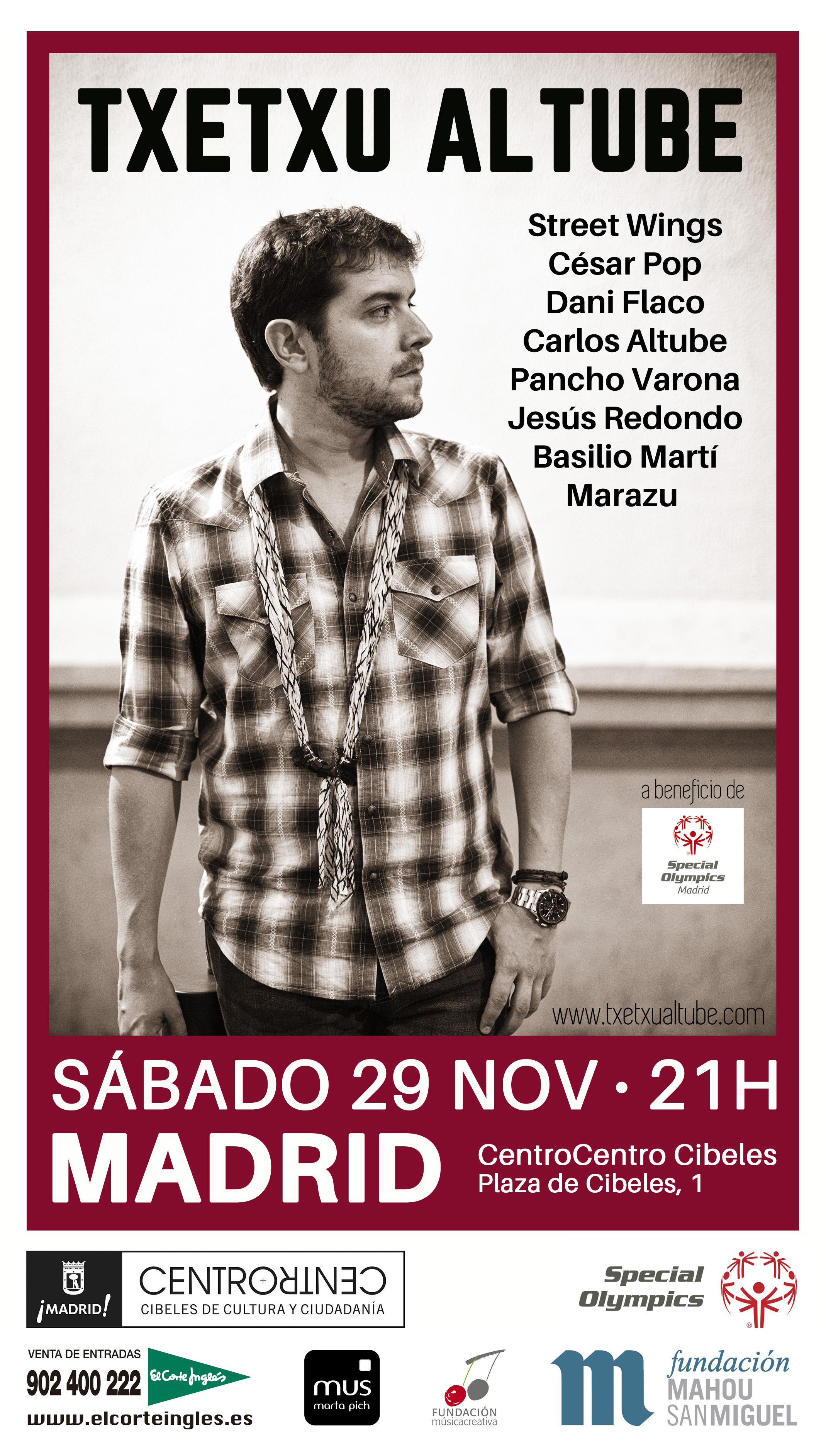 Cartel concierto 29N